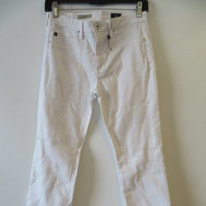 WOMENS ADRIANO GOLDSCHMIED WHITE JEANS SZ 27*